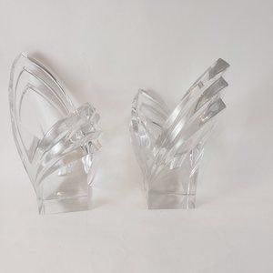 Pair Vintage Mikasa Crystal Candle Holders